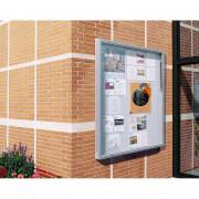 Vitrine d'affichage municipal double face anodisé - Taille de l'affichage : 9 A4  - Cadre : aluminium -- Fond : en tôle galvanisée