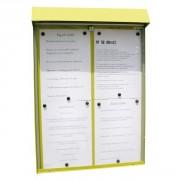 Vitrine d'affichage murale pour menu - Capacité : 4 pages - Dimensions d'affichage (cm) : 46 x 60