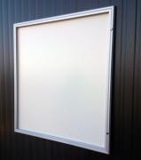 Vitrine d'affichage  en aluminium - Dimensions ( H x L)  : 380 x 300 mm - En aluminium - Ouvrante ou soulevante