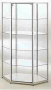 Vitrine d'angle alu - Dimensions 108 x 58 x 180H cm