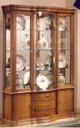 Vitrine d'exposition 3 tiroirs en bois - Dimensions : ( H x L x P) : 195 x 146 x 40 cm