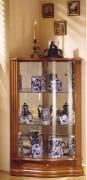 Vitrine d'exposition angle en bois laqué - Dimensions ( H x L x P) : 110 x 70 x 50 cm