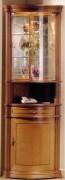 Vitrine d'exposition angle en bois merisier - Dimension: ( H x L x P) :195 x 70 x 50cm
