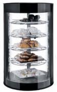 Vitrine d'exposition chauffante pour pâtisseries - Dimensions (mm) : 435 x 435 x 970
