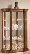 Vitrine d'exposition classique en bois chène - Dimensions : ( H x L x P): 150 x 100 x 35cm