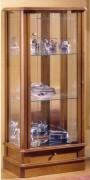 Vitrine d'exposition classique en bois merisier
