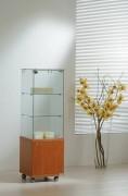 Vitrine d'exposition classique étroite Hauteur 140 cm - Dimensions (L x P x H) : 40 x 40 x 140 cm