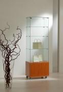 Vitrine d'exposition classique verre à 3 étagères - Dimensions (L x P x H) : 60 x 40 x 180 cm