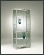 Vitrine d'exposition classique verre trempé - Dimensions (H x L x P) : 182 x 78 x 42 cm - Poids 89 kg