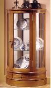 Vitrine d'exposition demi-lune en bois - Dimensions : (H x L x P) 106 x 60 x 29 cm