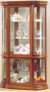 Vitrine d'exposition éclairée en bois - Dimensions : ( H x L x P) : 180 x 110 x 38 cm