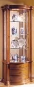 Vitrine d' exposition en bois - Dimensions (H x L x P) : 195 x 80 x 40 cm