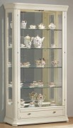 Vitrine d'exposition en bois avec éclairage - Dimensions (H x L x P) : 189 x 102 x 37 cm