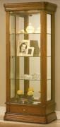 Vitrine d'exposition en bois chêne - Dimensions ( H x L x P) : 137 x 58 x 35 cm