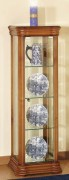 Vitrine d'exposition en bois largeur 38 cm
