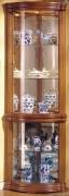 Vitrine d'exposition en bois pour salon - Dimensions (H x L x P) : 195 x 70 x 48 cm