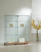 Vitrine d'exposition en verre large - Dimensions (L x P x H) : 117 x 40 x 140 cm