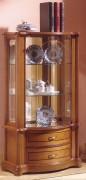 Vitrine d'exposition objets en bois largeur 65 cm - Dimensions : (H x L x P) :115 x 65 x 35cm