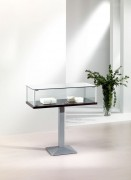 Vitrine d'exposition table verre - Dimensions ( H x L x P) : 100 x 100 x 50 cm