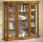 Vitrine d'exposition vaisselle en bois largeur 140 cm - Dimensions : ( H x L x P) : 150 x 140 x 40 cm