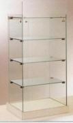 Vitrine d'exposition verre à 3 étagères - Dimensions: 36 x 26,5 x 80H cm