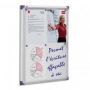 Vitrine d intérieur extra-plate fond magnétique format 4 feuilles A4 NOBO - NOBO