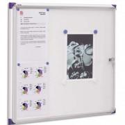 Vitrine d intérieur extra-plate fond magnétique format 6 feuilles A4 NOBO - NOBO