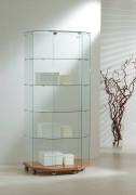 Vitrine de commerce classique bas en bois - Dimensions (L x P x H) : 80 x 60/40 x 180 cm
