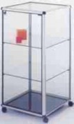 Vitrine de comptoir en aluminium - Dimensions 50 x 50 x 95H cm