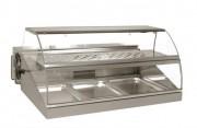 Vitrine de marché chaud/froid 3 bacs - Dimensions vitrine sans bloc : 1000 x 900 x 475 mm Puissance : 500 / 2400 W - Poids : 105-94 kg