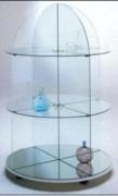 Vitrine en verre ronde - Dimensions Ø 90 x 145H cm