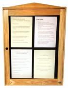 Vitrine lumineuse pour menu - Capacité : 4 pages - Modèle : Mural à simple face