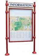Vitrine municipale avec bandeau titre - Dimensions ( H x l) mm : 800 x 1200