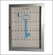 Vitrine murale porte clés - Formats : Rangement de 10 à 40 clés