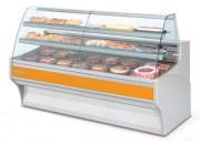 Vitrine pâtissière profondeur 940 - Dimensions (L x  P x H) mm : Jusqu'à 2525 x 940 x 1295 – Réfrigérée avec  2 étagères