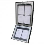 Vitrine porte menu extérieur - Capacité : 4 + 2 pages - Dimensions d'affichage (cm) : 49 x 65 - 49 x 43
