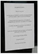Vitrine Porte menu intérieur en plexiglas - Format A4 - Horizontale ou verticale