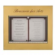 Vitrine porte menu mural éclairé - Capacité : 2 pages - Modèle : Mural à simple face