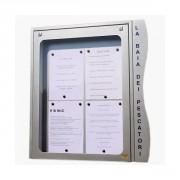 Vitrine porte menu murale - Capacité : 4 pages - Dimensions d'affichage (cm) : 49 x 65