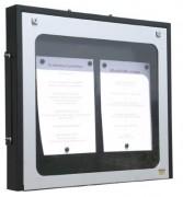 Vitrine porte menu murale aluminium - Capacité : 2 - 3 - 6 pages - Modèle : Mural à simple face