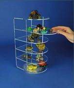 Vitrine pour collectionneur plexiglas - 6 étagères avec 4 tablettes coulissantes