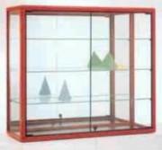 Vitrine pour commerce aluminium - Dimensions:  100 x 35 x 90H cm