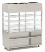 Vitrine pour self réfrigérée - Kit meuble neutre + vitrine avec fond
