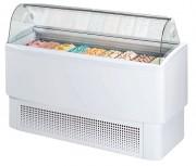 Vitrine réfrigérée à crème glacée - Froid négatif ventilé