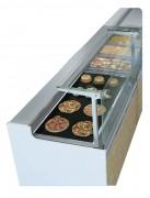Vitrine réfrigérée avec bain-marie chauffant - Surface d'exposition : 1.06 m² - Longueur (mm) : 1300