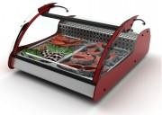 Vitrine réfrigérée d'exposition sur roulettes - Dimensions (mm) : 1000 x 882 x 400