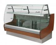 Vitrine réfrigérée en bois - +3° à +6°C - Longueur (mm) : 1000 à 2800