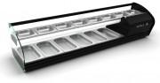 Vitrine réfrigérée grande capacité - Dimensions (mm) : 1438 x 395 x 360 - 14 plateaux