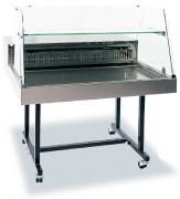 Vitrine réfrigérée mobile pour restaurant - Vitrage droit - Température : +2°C à +10°C