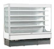 Vitrine réfrigérée murale à 4 étagères - Capacité (L) : 2555